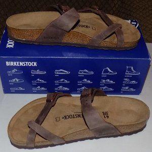 New Birkenstock Mayari Tabacco leather EU41 US10